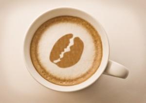 maquina cafe con dibujo